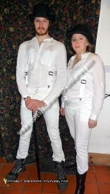 Homemade Clockwork Orange Couple Costume