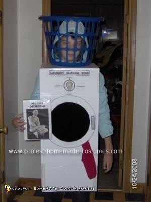 Homemade Clothes Washer Halloween Costume