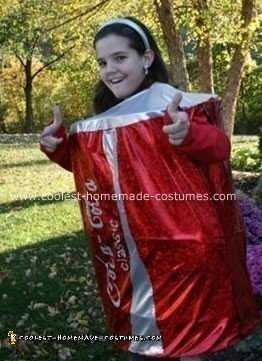 Homemade Coca-Cola Can Costume
