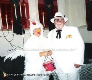 Homemade Colonel Sanders and the Chicken Couple Costume