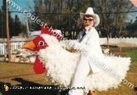 Homemade Colonel Sanders Riding a Chicken Costume
