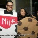 Homemade Cookie and Milk Halloween Couple Costume