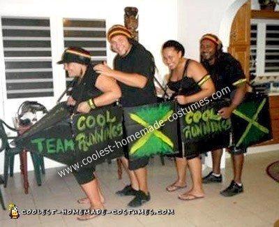 Homemade Cool Runnings Group Costume