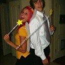 Homemade Cosmo and Wanda Couple Costume from Fairly Odd Parents