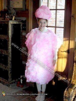 Homemade Cotton Candy Halloween Costume
