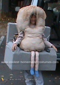 Homemade Couch Potato Costume