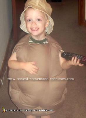 Homemade Couch Potato Halloween Costume