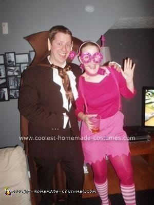 Homemade Count Chocula and Frankenberry Couple Costumes