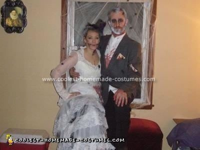 Homemade Corpse Bride and Groom Costume