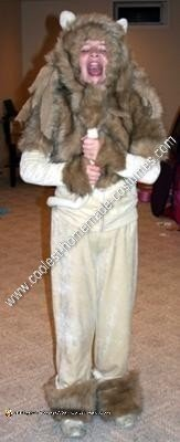 Homemade Cowardly Lion from Wizard of Oz Costume