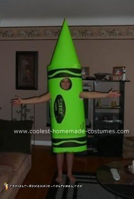 Homemade Crayola Crayon Costume