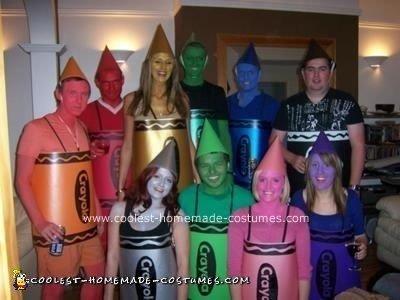 Homemade Crayola Crayons Costume