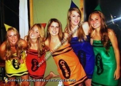 Homemade Crayola Crayons Costumes