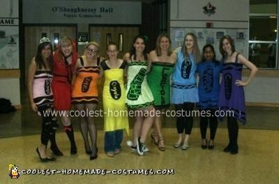 Homemade Crayon and Marker (A Box of Personality) Group Costumes