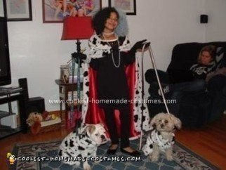 Homemade Cruella DeVille Child Costume