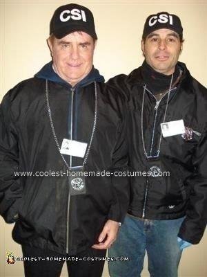 Homemade CSI Costume
