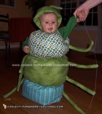 Homemade Cuddly Caterpillar Baby Costume