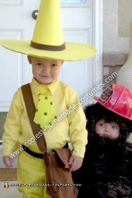 Homemade Curious George and The Man in the Yellow Hat Costumes