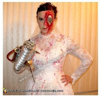 Homemade Cyborg Bride Costume
