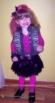 Homemade Cyndi Lauper Kids Costume