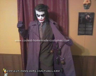 Homemade Dark Knight Joker Costume