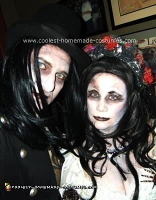 Homemade Dead Groom and Bride Couple Halloween Costume