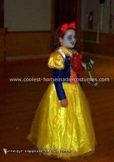 Homemade Dead Snow White Costume