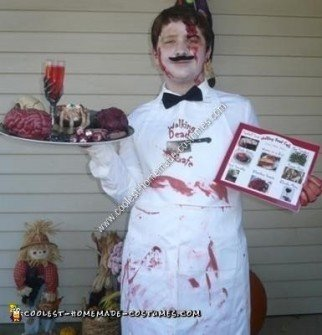 Homemade Dead Waiter Halloween Costume Idea