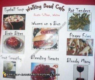 Homemade Dead Waiter Halloween Costume Idea