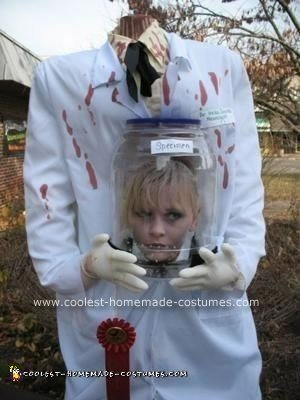 Homemade Decapitated Mad Scientist Halloween Costume Idea