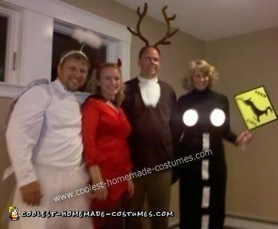 Homemade Deer Caught in Headlights Couple Costume