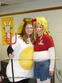 Homemade Deviled Egg Halloween Costume