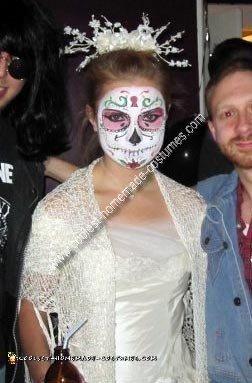 Homemade Dia de los Muertos Skull Woman Costume