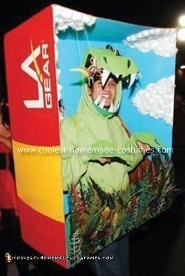 Homemade Dinosaur Diorama Costume