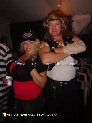 Homemade Dog the Bounty Hunter and Beth Couple Costume