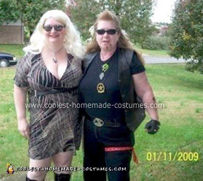 Homemade Dog the Bounty Hunter and his wife Beth Costumes