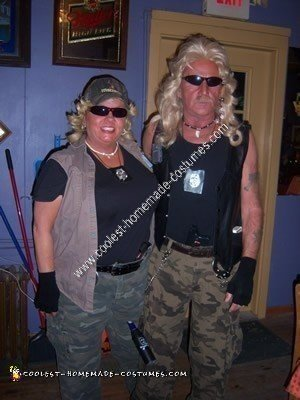 Coolest Homemade Dog The Bounty Hunter And Wife Halloween