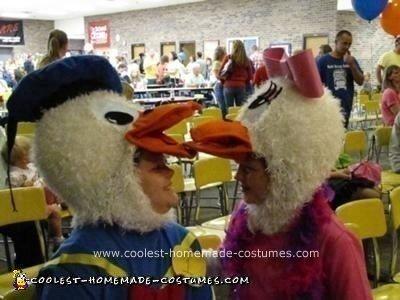 Homemade Donald Duck and Daisy Duck Couple Costume Idea
