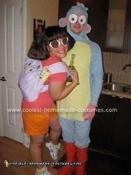 Coolest Homemade Dora and Boots Couple Costume