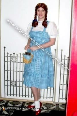 Homemade Dorothy from the Wizard of Oz Costume