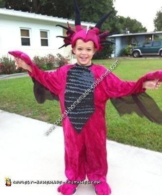 Homemade Dragon Child Halloween Costume Idea