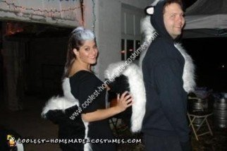 Homemade Drunk as Skunks Couple Costume