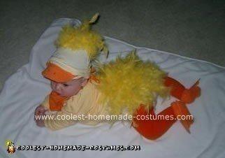 Homemade Ducky Baby Costume