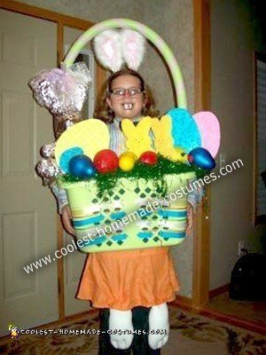 Homemade Easter Bunny Basket Costume