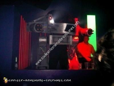 Homemade ED 209 Robot Halloween Costume Idea