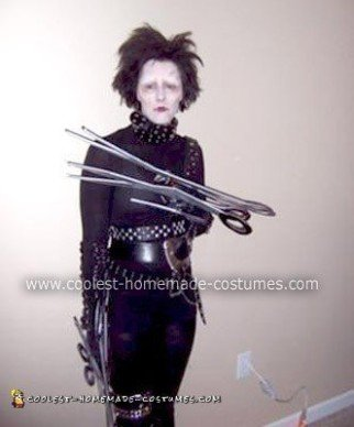 Homemade Edward Scissorhands Halloween Costume