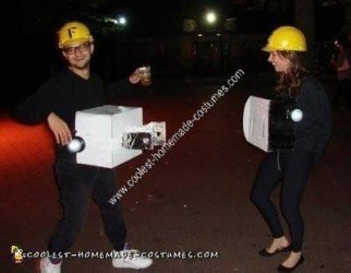 Homemade Electricians Couple Costume