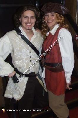 Homemade Elizabeth Swann Adult Pirate Halloween Costume Idea