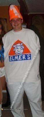 Homemade Elmer's Glue Costume