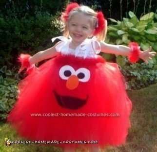 Homemade Elmo Tutu Dress Costume